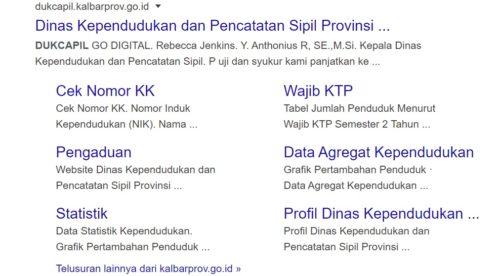 Cek KK Online Melalui Website