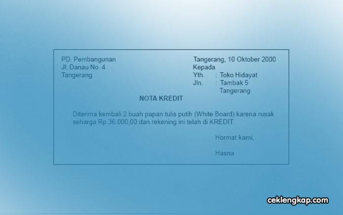Nota Debit dan Nota Kredit dalam Administrasi Pajak