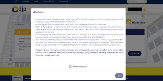 Panduan Pengguna Aplikasi e-Objection