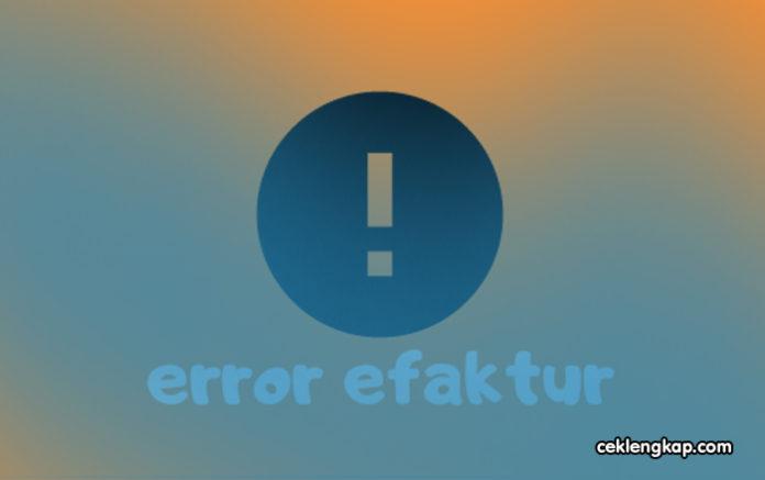e-Faktur Error