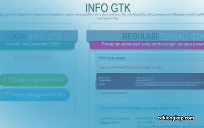 Cara Cek Info GTK